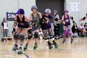 BCR Central Belters vs. North Wales Roller Derby 30 June 2013