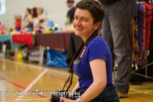 Me, ready to photograph some roller derby action